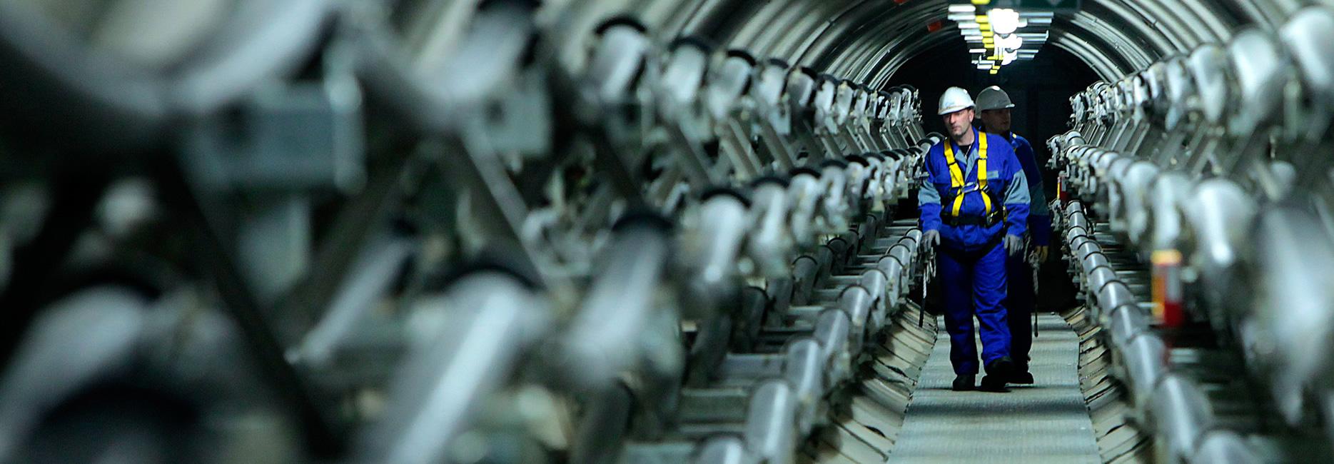 Unterirdische Verlegung von Leitungen, ein Großprojekt